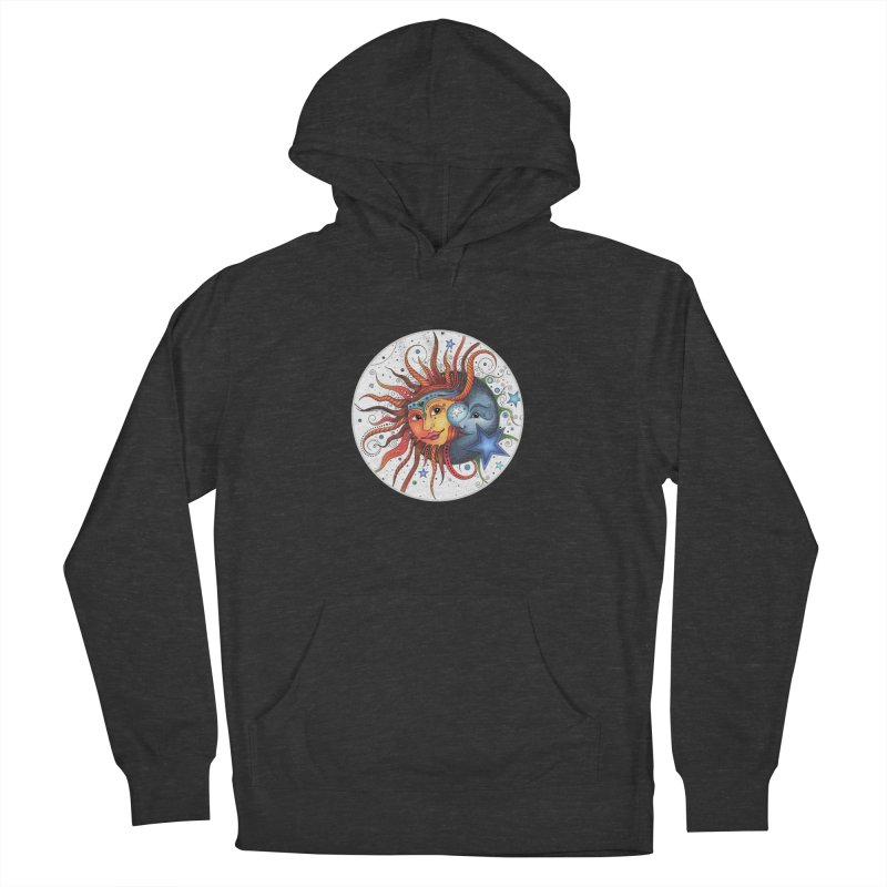 Ruby Charm's Sun & Moon Men's French Terry Pullover Hoody by Ruby Charm Colors Artist Shop