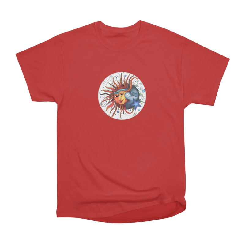 Ruby Charm's Sun & Moon Women's Heavyweight Unisex T-Shirt by Ruby Charm Colors Artist Shop