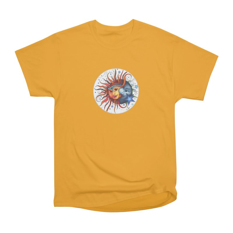 Ruby Charm's Sun & Moon Women's Heavyweight Unisex T-Shirt by Ruby Charm Colors Artist Shop