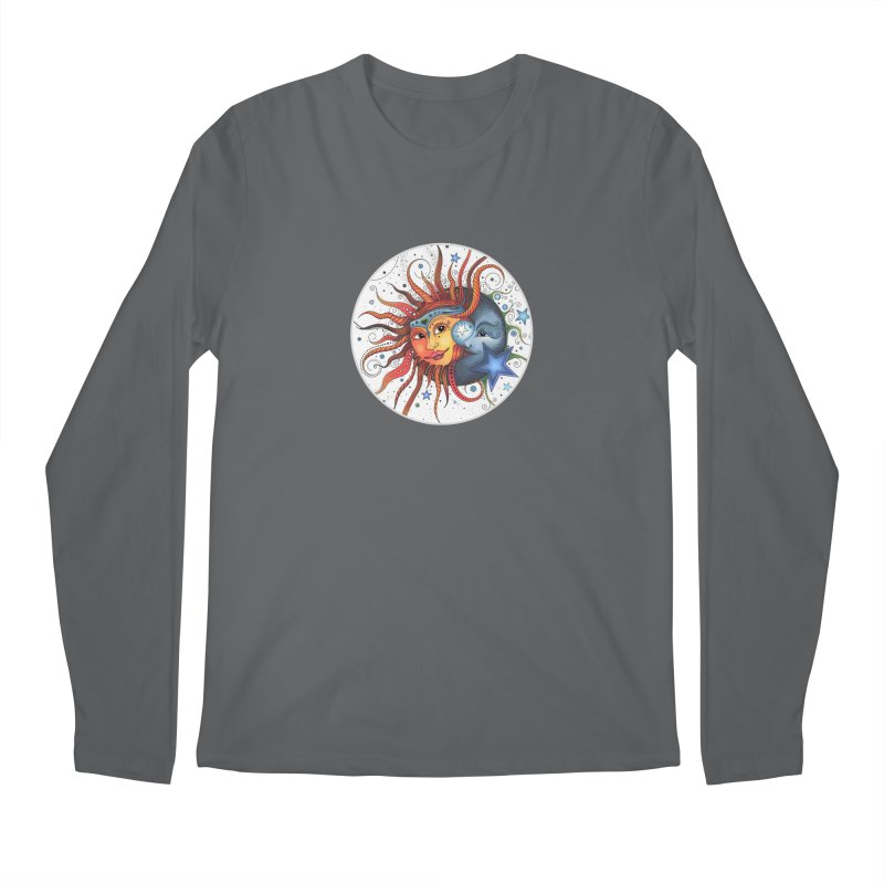 Ruby Charm's Sun & Moon Men's Longsleeve T-Shirt by Ruby Charm Colors Artist Shop