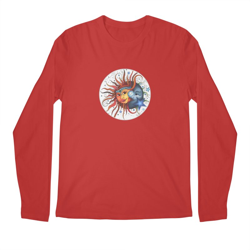 Ruby Charm's Sun & Moon Men's Regular Longsleeve T-Shirt by Ruby Charm Colors Artist Shop