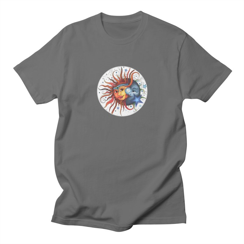 Ruby Charm's Sun & Moon Men's T-Shirt by Ruby Charm Colors Artist Shop