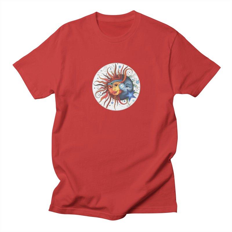 Ruby Charm's Sun & Moon Men's Regular T-Shirt by Ruby Charm Colors Artist Shop