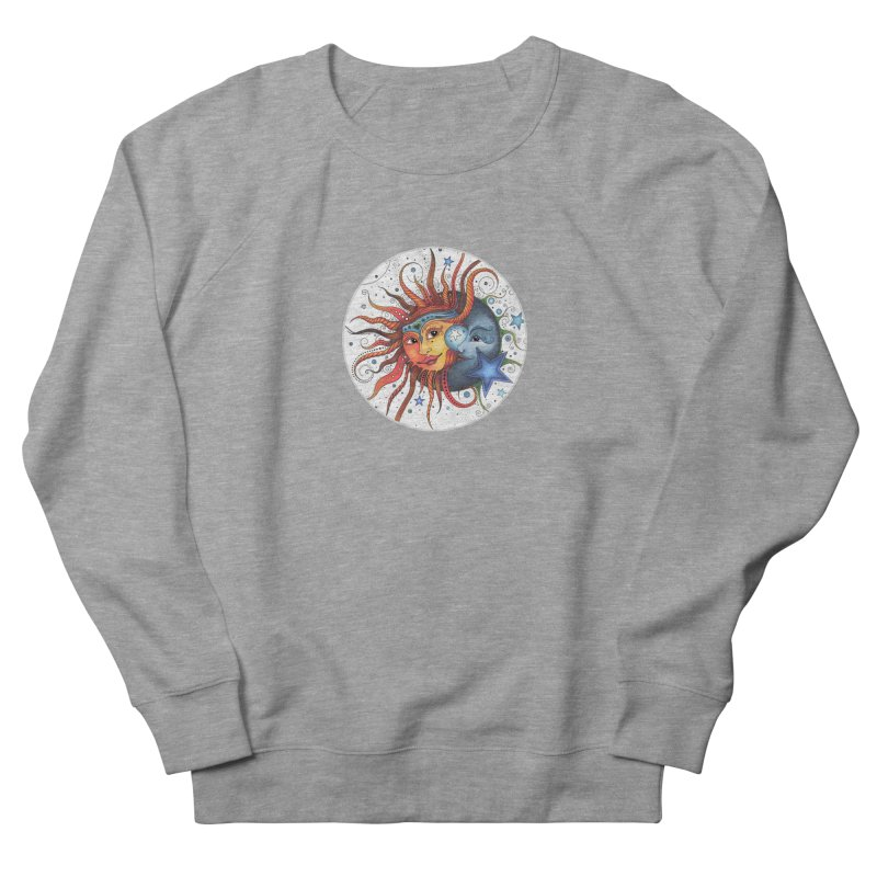 Ruby Charm's Sun & Moon Women's French Terry Sweatshirt by Ruby Charm Colors Artist Shop