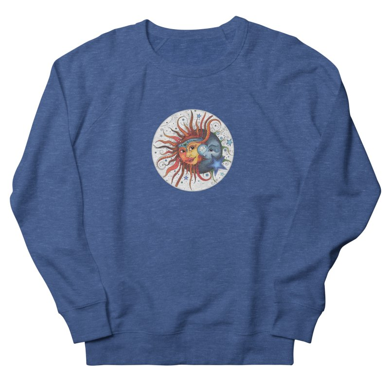 Ruby Charm's Sun & Moon Men's French Terry Sweatshirt by Ruby Charm Colors Artist Shop