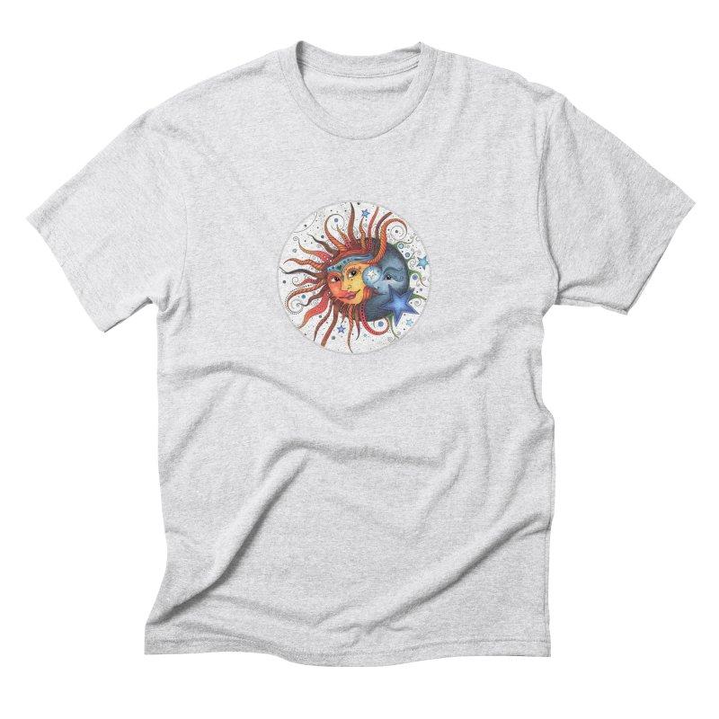 Ruby Charm's Sun & Moon Men's Triblend T-Shirt by Ruby Charm Colors Artist Shop