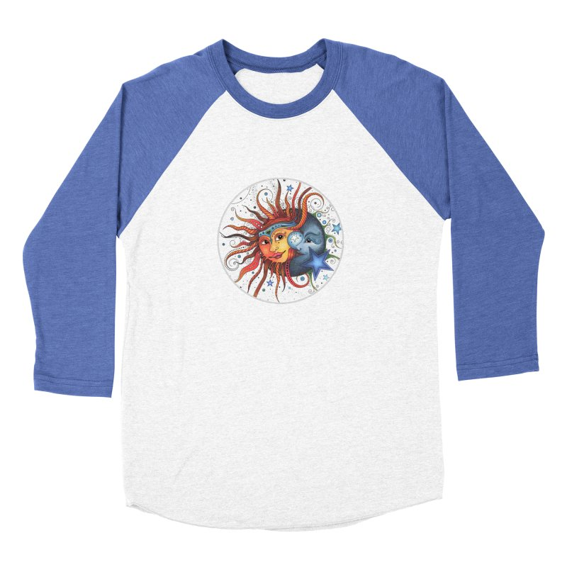 Ruby Charm's Sun & Moon Women's Baseball Triblend Longsleeve T-Shirt by Ruby Charm Colors Artist Shop