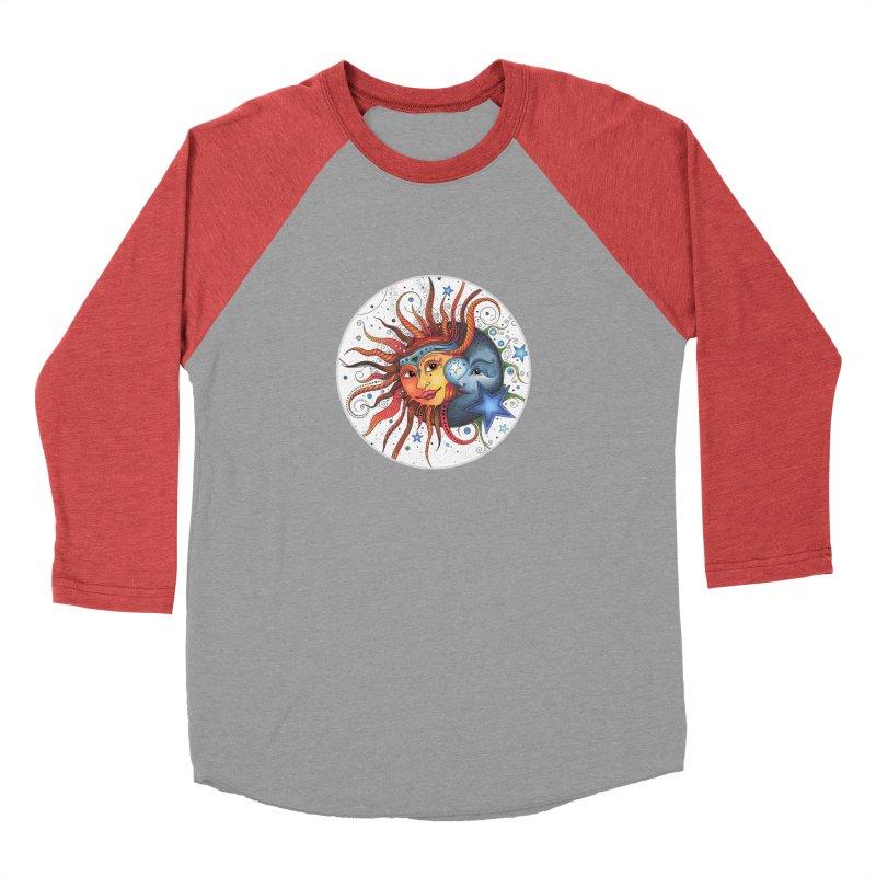 Ruby Charm's Sun & Moon Men's Baseball Triblend Longsleeve T-Shirt by Ruby Charm Colors Artist Shop