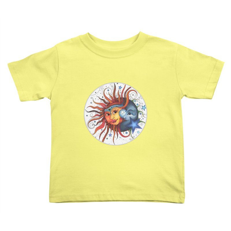 Ruby Charm's Sun & Moon Kids Toddler T-Shirt by Ruby Charm Colors Artist Shop