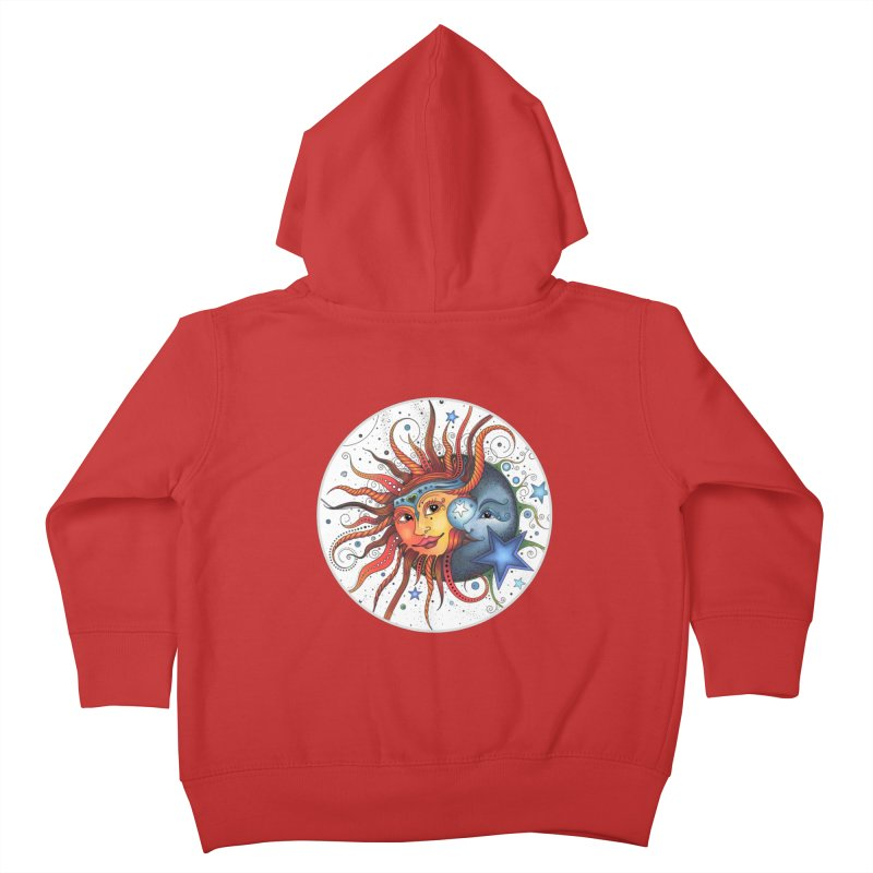 Ruby Charm's Sun & Moon Kids Toddler Zip-Up Hoody by Ruby Charm Colors Artist Shop