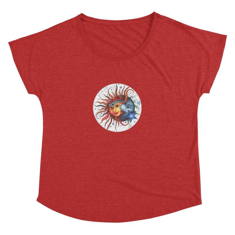 Ruby Charm's Sun & Moon Women's Dolman Scoop Neck by Ruby Charm Colors Artist Shop