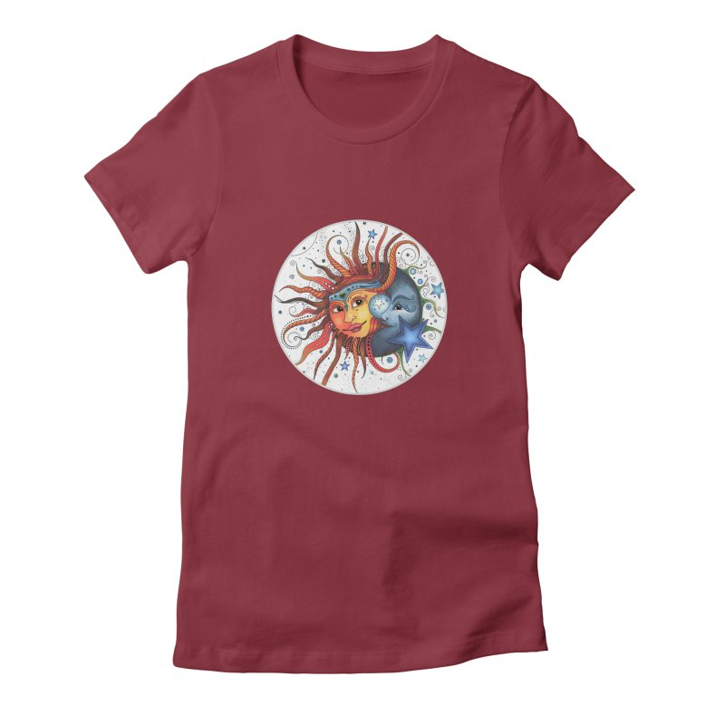 Ruby Charm's Sun & Moon Women's T-Shirt by Ruby Charm Colors Artist Shop
