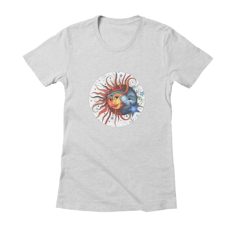 Ruby Charm's Sun & Moon Women's Fitted T-Shirt by Ruby Charm Colors Artist Shop