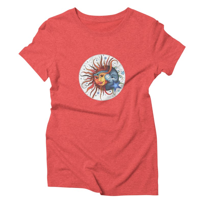 Ruby Charm's Sun & Moon Women's Triblend T-Shirt by Ruby Charm Colors Artist Shop