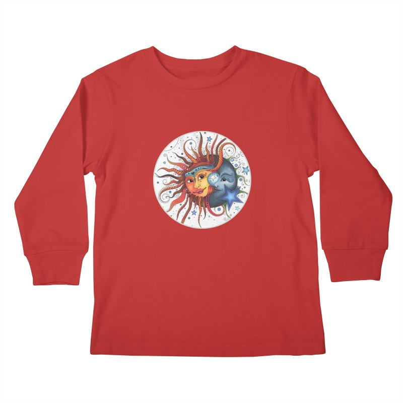 Ruby Charm's Sun & Moon Kids Longsleeve T-Shirt by Ruby Charm Colors Artist Shop