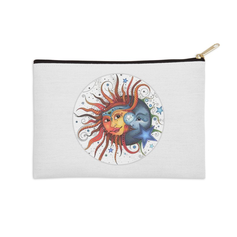 Ruby Charm's Sun & Moon in Zip Pouch by Ruby Charm Colors Artist Shop