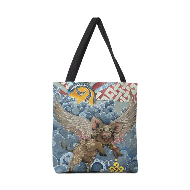 Year of the Pig Accessories Tote Bag Bag by Ruby Charm Colors Artist Shop