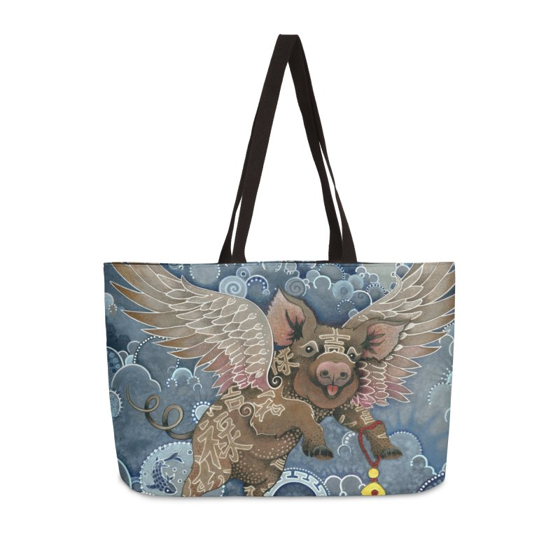 Year of the Pig Accessories Weekender Bag Bag by Ruby Charm Colors Artist Shop