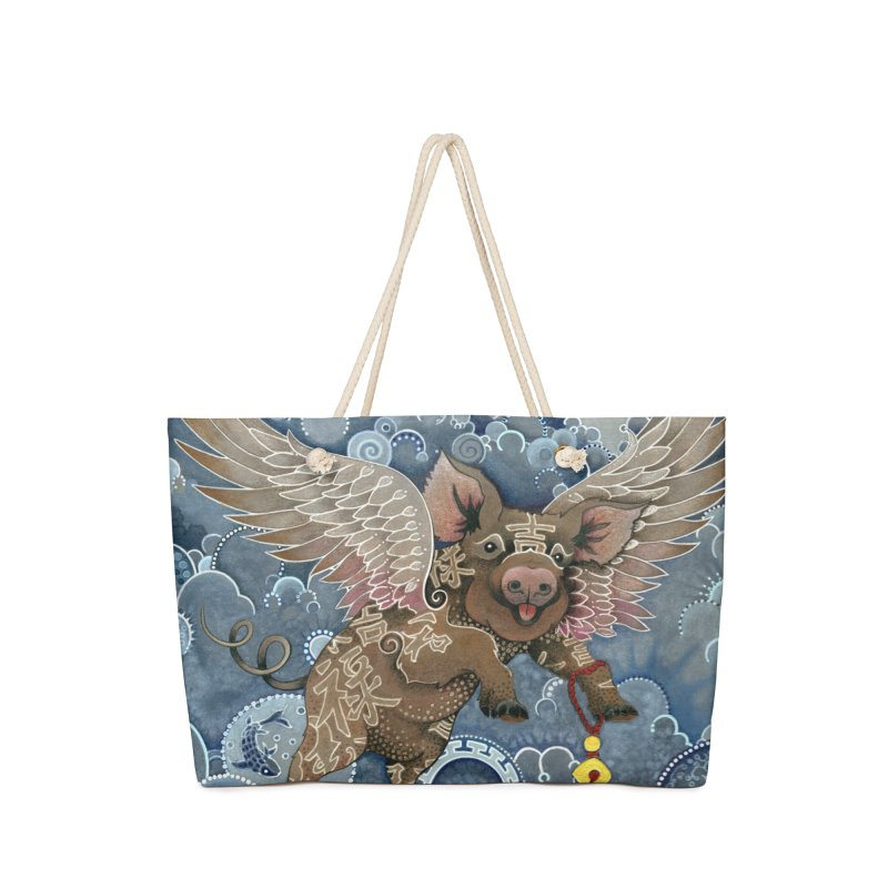 Year of the Pig Accessories Bag by Ruby Charm Colors Artist Shop