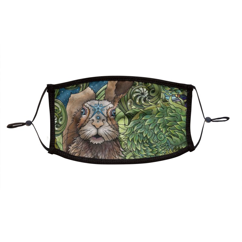 March Hare Accessories Face Mask by Ruby Charm Colors Artist Shop