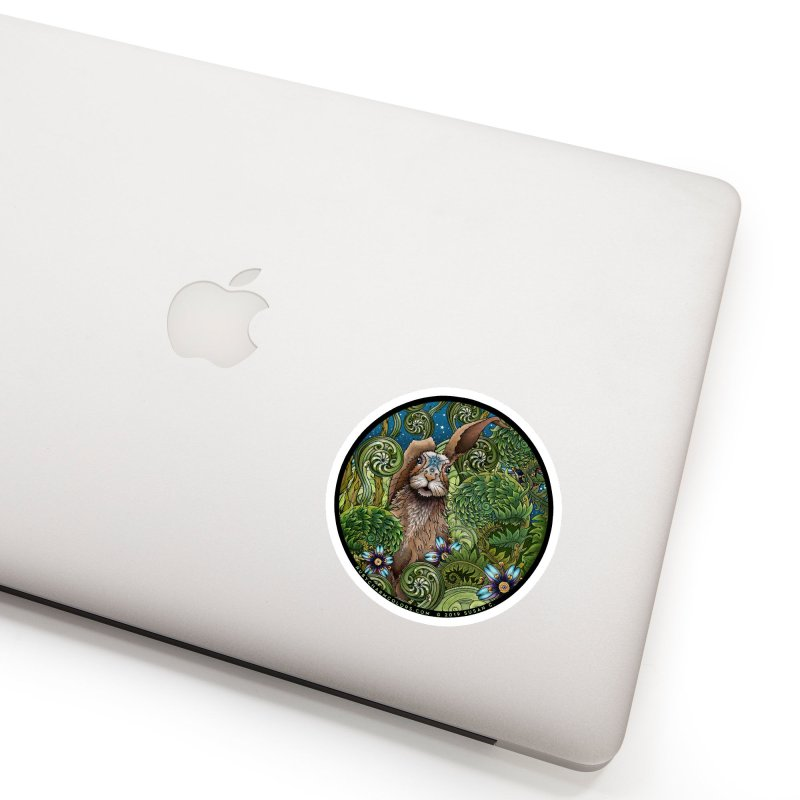 March Hare in White Sticker by Ruby Charm Colors Artist Shop