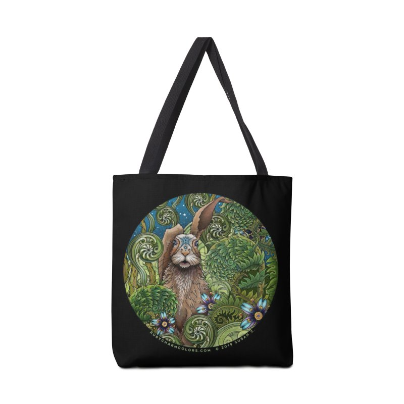March Hare in Tote Bag by Ruby Charm Colors Artist Shop