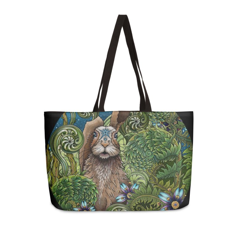 March Hare in Weekender Bag by Ruby Charm Colors Artist Shop