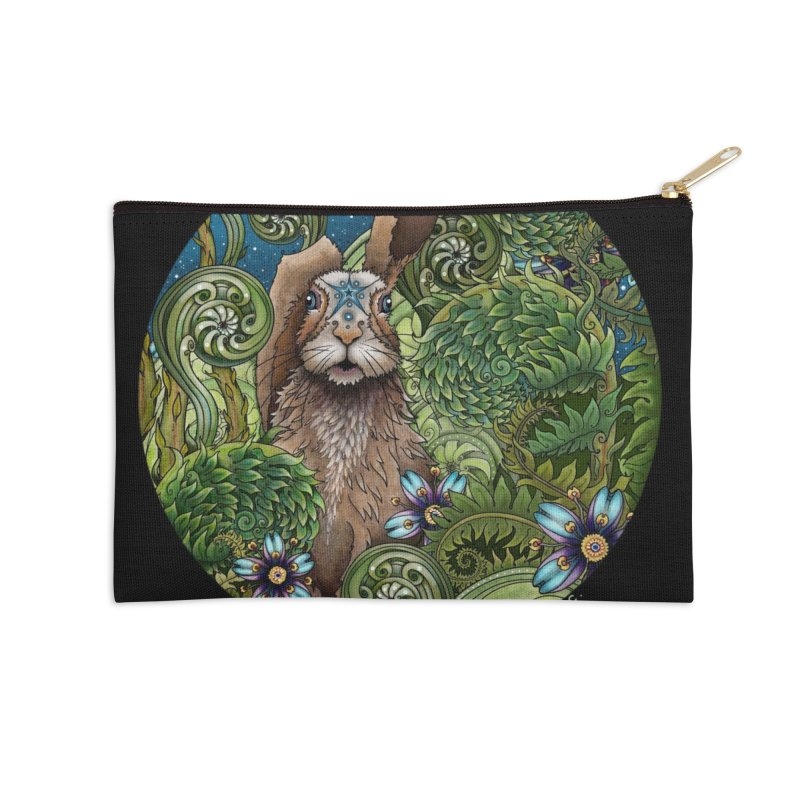 March Hare in Zip Pouch by Ruby Charm Colors Artist Shop