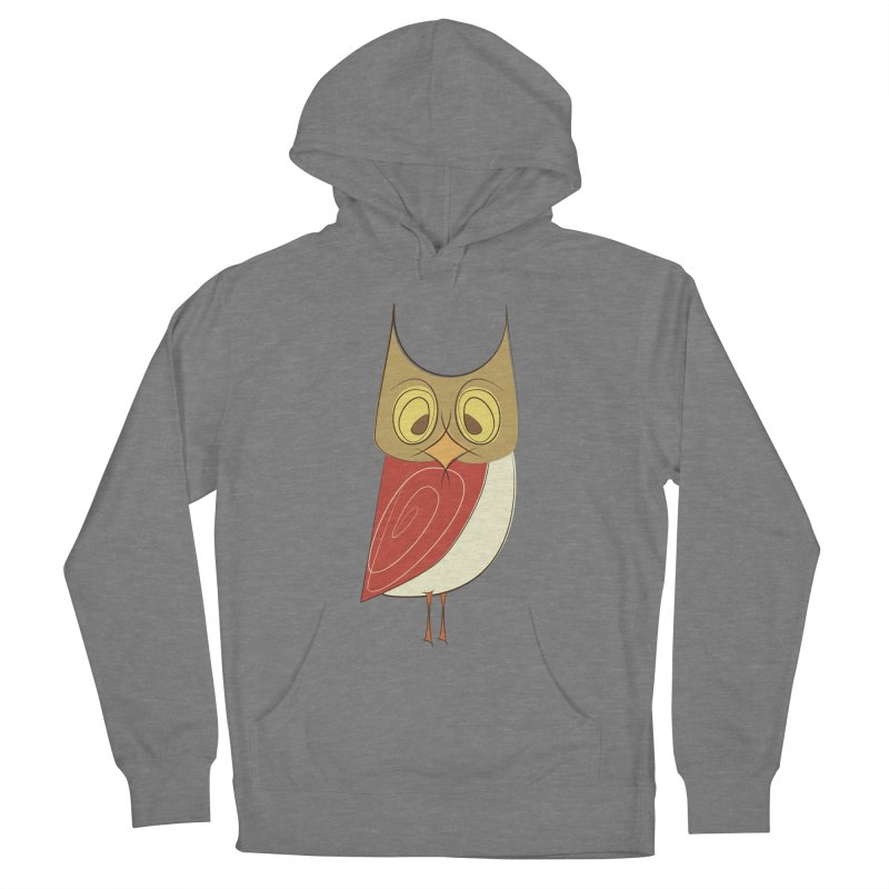 Cranky Retro Owl Women's French Terry Pullover Hoody by Runderella's Artist Shop
