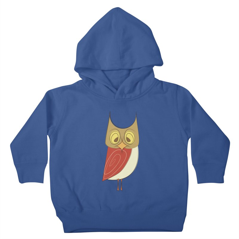 Cranky Retro Owl Kids Toddler Pullover Hoody by Runderella's Artist Shop
