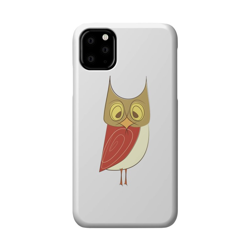 Cranky Retro Owl Accessories Phone Case by Runderella's Artist Shop