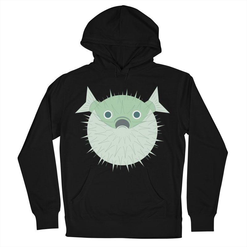 Shock Cousteau's Blowfish Women's French Terry Pullover Hoody by Runderella's Artist Shop