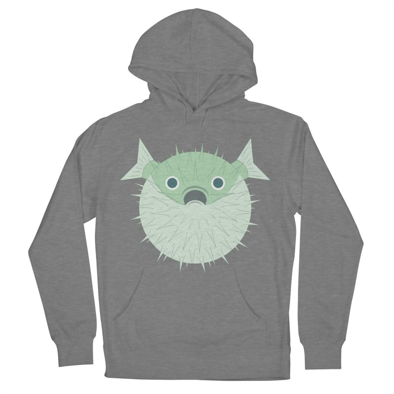 Shock Cousteau's Blowfish Men's French Terry Pullover Hoody by Runderella's Artist Shop