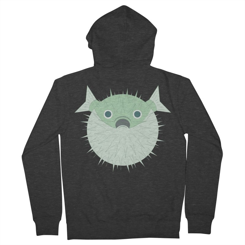 Shock Cousteau's Blowfish Women's French Terry Zip-Up Hoody by Runderella's Artist Shop