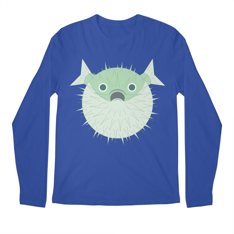 Shock Cousteau's Blowfish Men's Regular Longsleeve T-Shirt by Runderella's Artist Shop