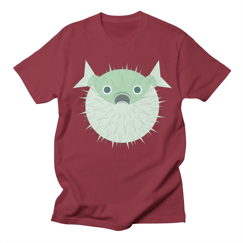 Shock Cousteau's Blowfish Men's Regular T-Shirt by Runderella's Artist Shop