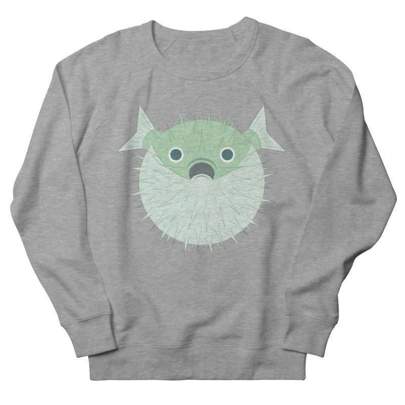 Shock Cousteau's Blowfish Men's French Terry Sweatshirt by Runderella's Artist Shop