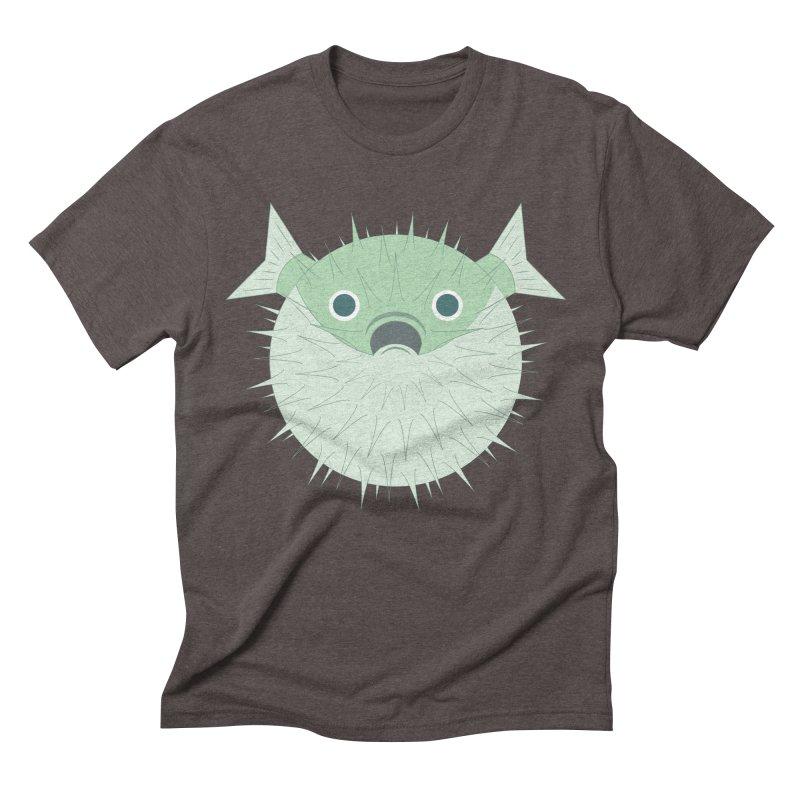 Shock Cousteau's Blowfish Men's Triblend T-Shirt by Runderella's Artist Shop
