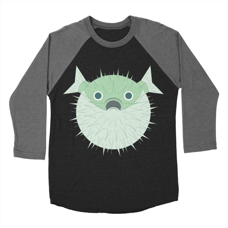 Shock Cousteau's Blowfish Women's Baseball Triblend Longsleeve T-Shirt by Runderella's Artist Shop