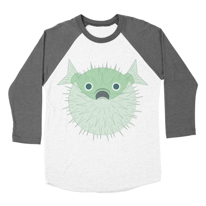 Shock Cousteau's Blowfish Men's Baseball Triblend Longsleeve T-Shirt by Runderella's Artist Shop