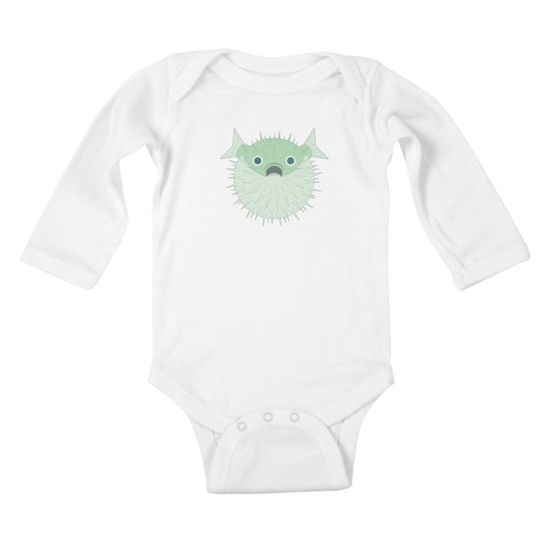 Shock Cousteau's Blowfish Kids Baby Longsleeve Bodysuit by Runderella's Artist Shop
