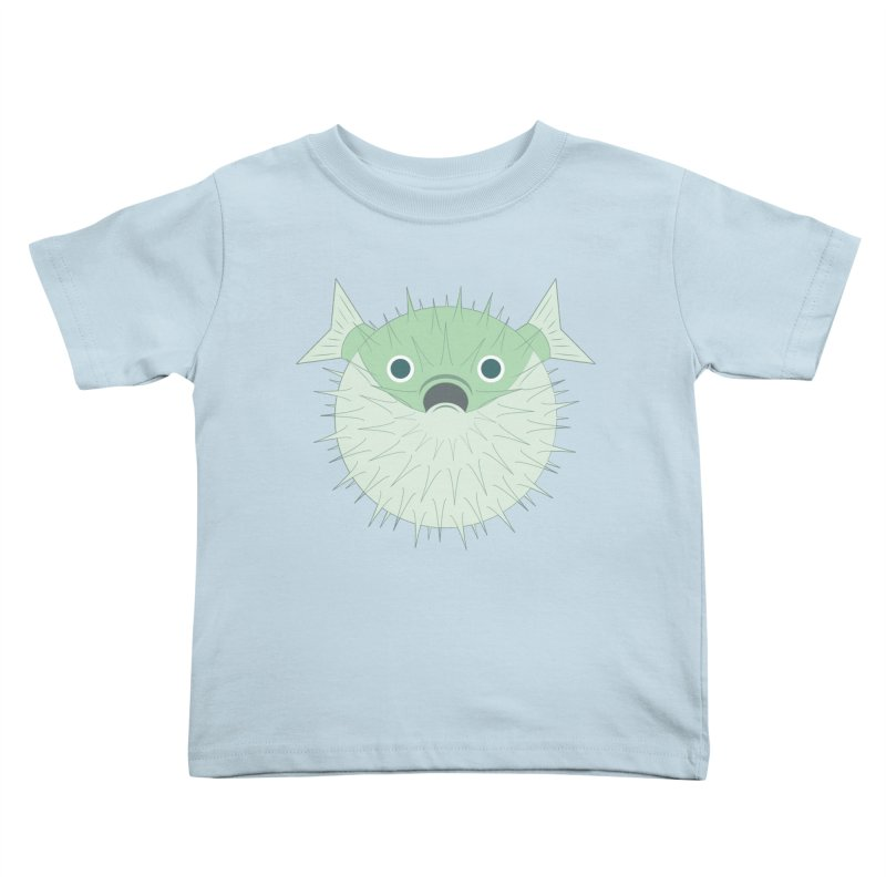 Shock Cousteau's Blowfish Kids Toddler T-Shirt by Runderella's Artist Shop