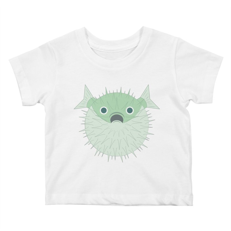 Shock Cousteau's Blowfish Kids Baby T-Shirt by Runderella's Artist Shop