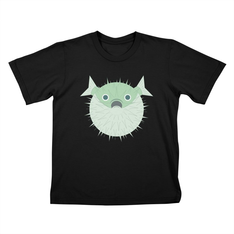 Shock Cousteau's Blowfish Kids T-Shirt by Runderella's Artist Shop