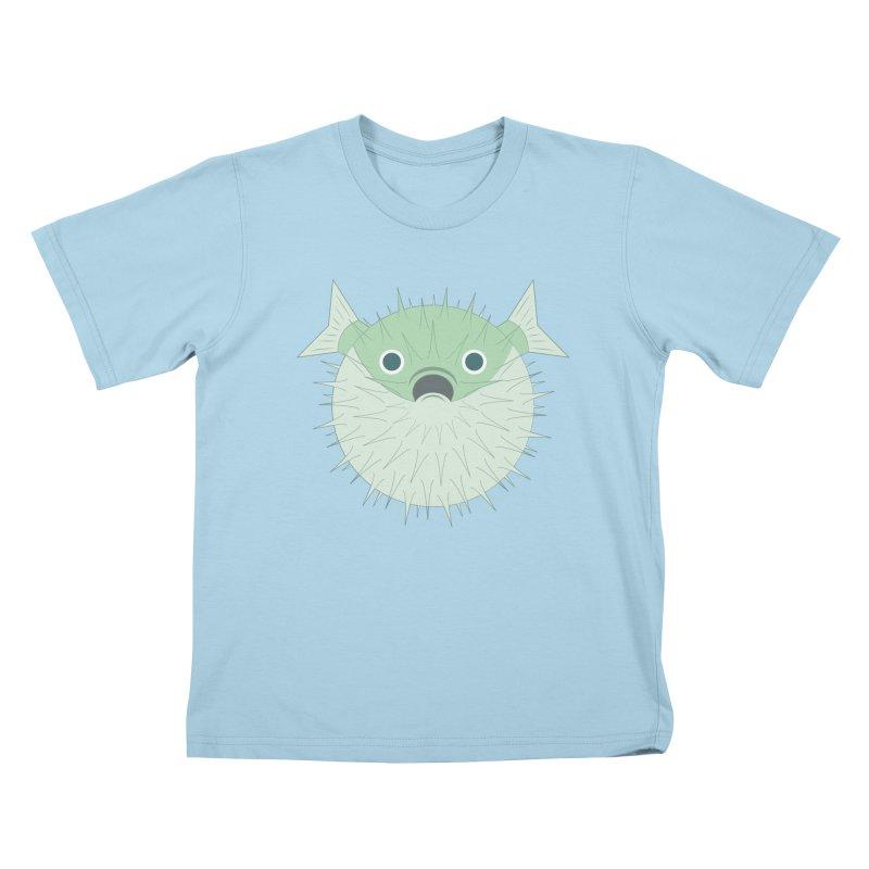 Shock Cousteau's Blowfish Kids T-Shirt by Runderella's Artist Shop