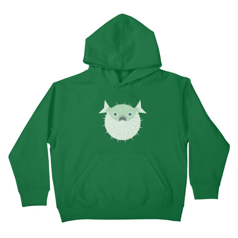 Shock Cousteau's Blowfish Kids Pullover Hoody by Runderella's Artist Shop