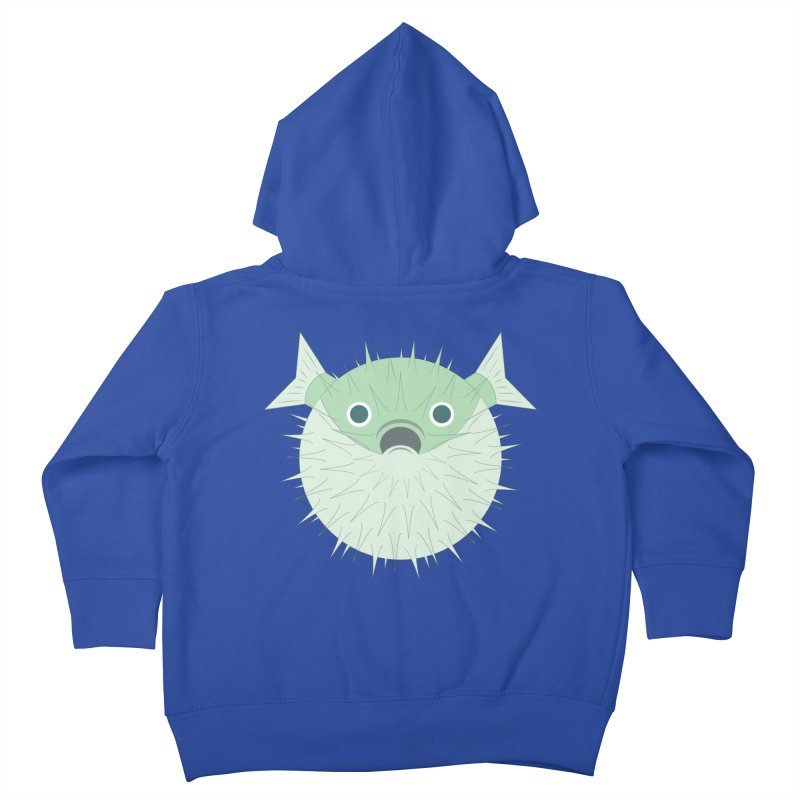 Shock Cousteau's Blowfish Kids Toddler Zip-Up Hoody by Runderella's Artist Shop
