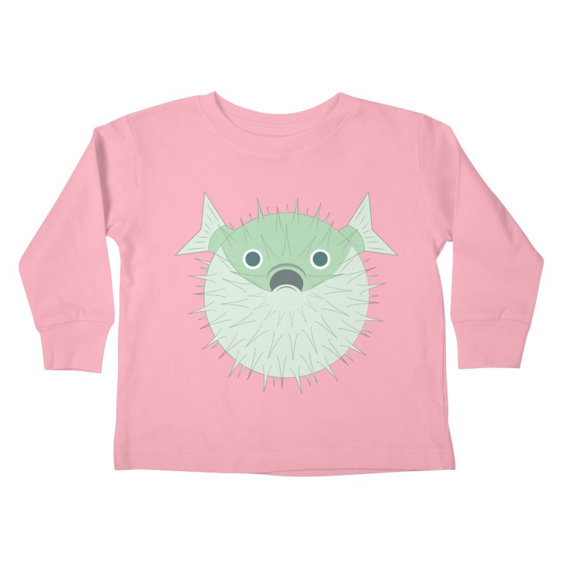 Shock Cousteau's Blowfish Kids Toddler Longsleeve T-Shirt by Runderella's Artist Shop