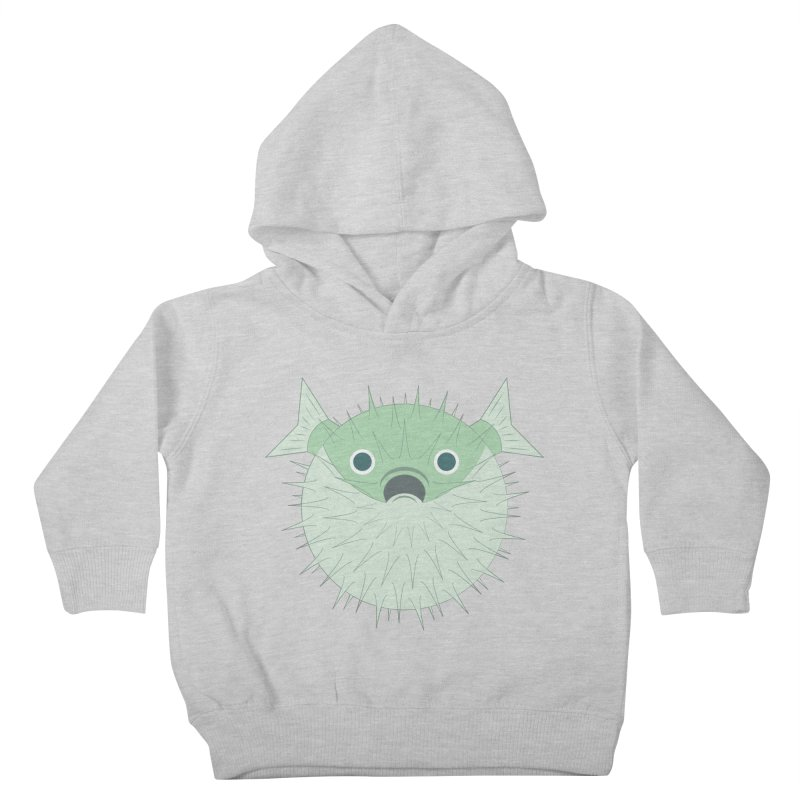 Shock Cousteau's Blowfish Kids Toddler Pullover Hoody by Runderella's Artist Shop