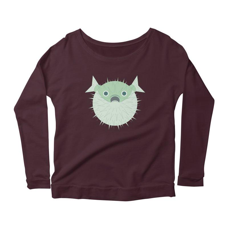 Shock Cousteau's Blowfish Women's Scoop Neck Longsleeve T-Shirt by Runderella's Artist Shop